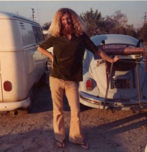 Tim in his hippy days